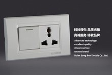 YB-118 one gang one way/two way electical light wall switch and socket
