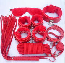 7pcs /set Role Play Faux Leather Fetish Restraint Bondage Kit Mask Ball Gag Hand Cuffs Sex Costumes
