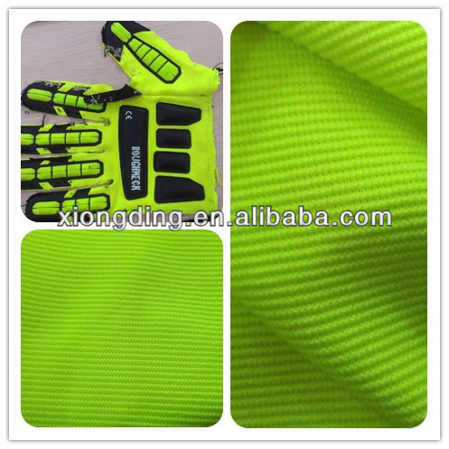 4-way polyester spandex knitted ottoman glove fabric for Oil and Gas workers