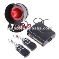 1-Way Car Alarm Protection Security System with 2 Remote Control