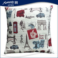 custom letter print decorative pillow for bed