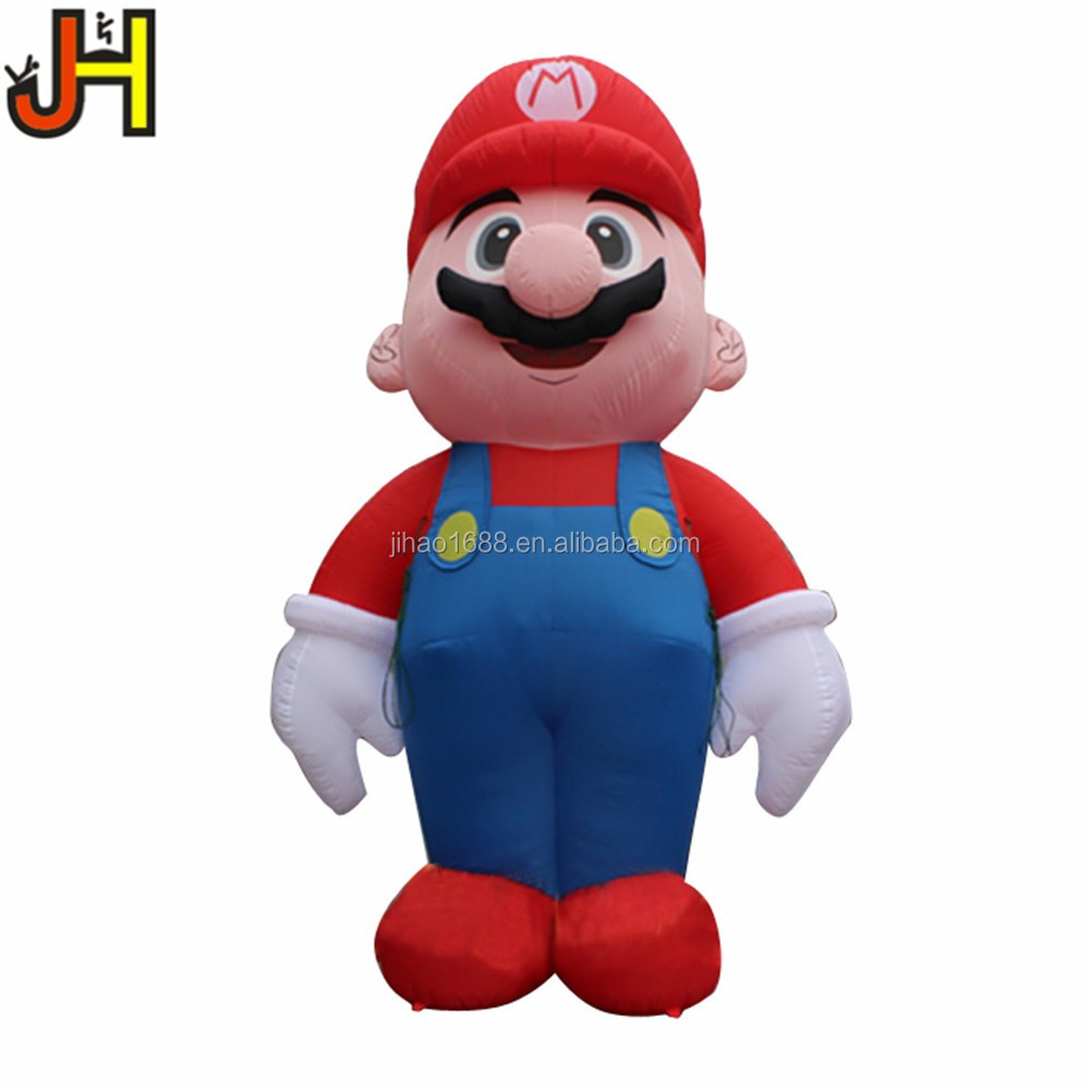 High Quality Giant Inflatable Super Mario Cartoon For Christmas Decoration
