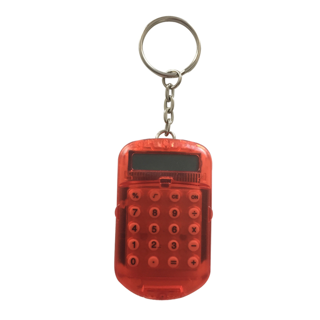 mini cute keychain calculator with protective cover