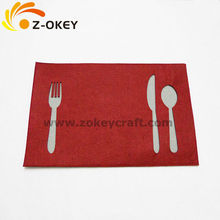 High quality Restaurant table decoration placemat in two layer