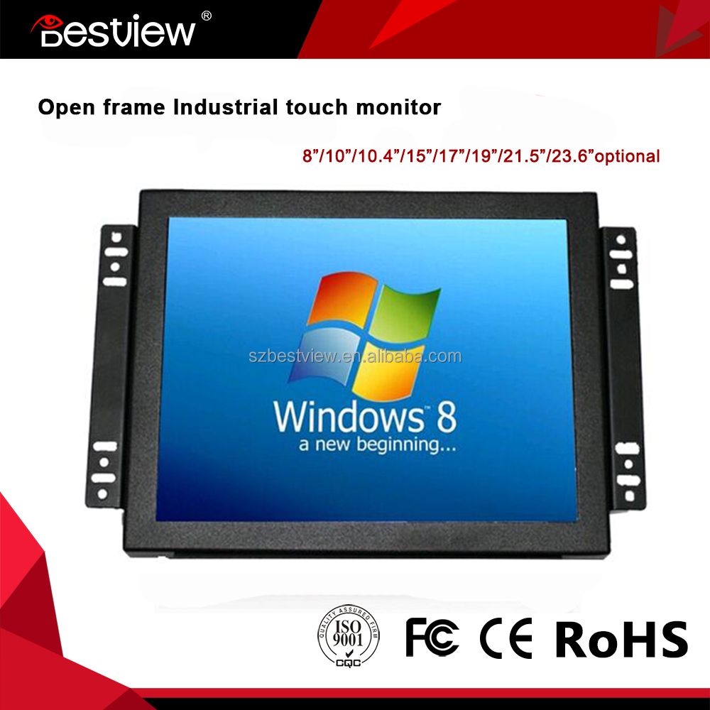 1024*768 IPS Screen 8 inch open frame touch screen hdmi monitor