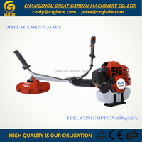 33cc 2-stroke gasoline brush cutter with 1e36f engine