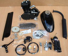 black 2 stroke gasoline 100cc bicycle engine kit 80cc 66cc