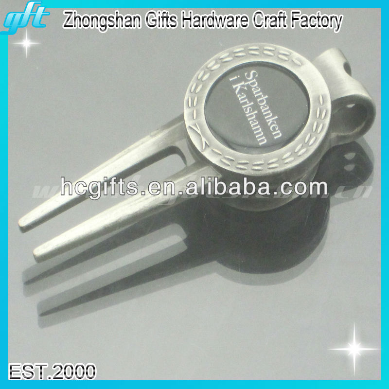 new <strong>design</strong> Customized Antique silver Golf Divot Tool for Tournament Gift