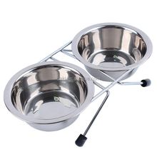 Bracket non-slip food dog stainless steel bowl