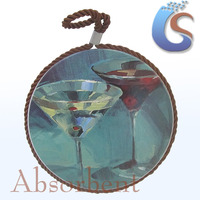Glass goblet design decoration ceramic pot holder