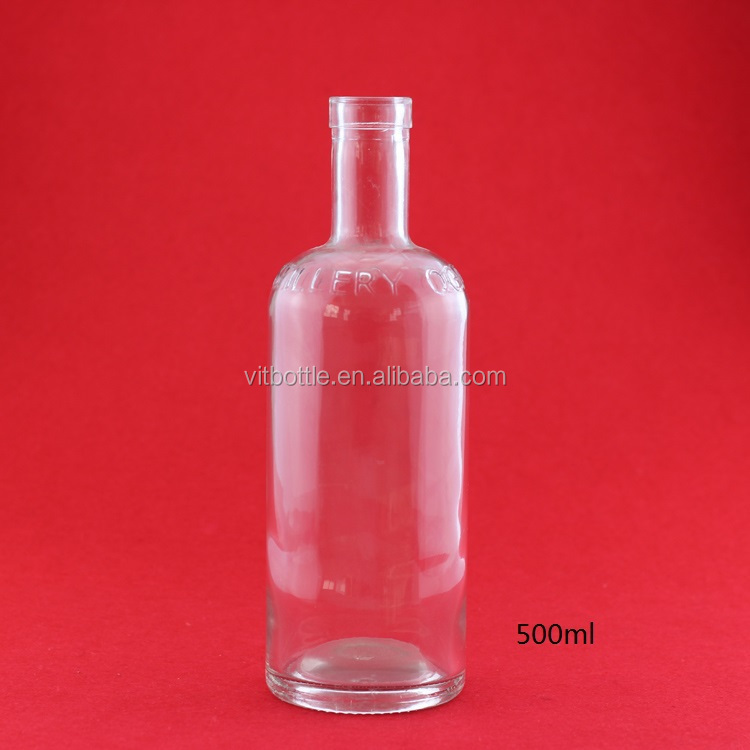 Wholesale handmade fancy empty Jim Beam Bourbon Whisky glass bottle