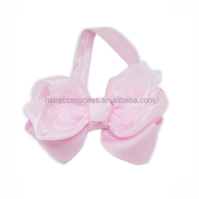 Pink bow kids headband - various head wrap with bow for kids