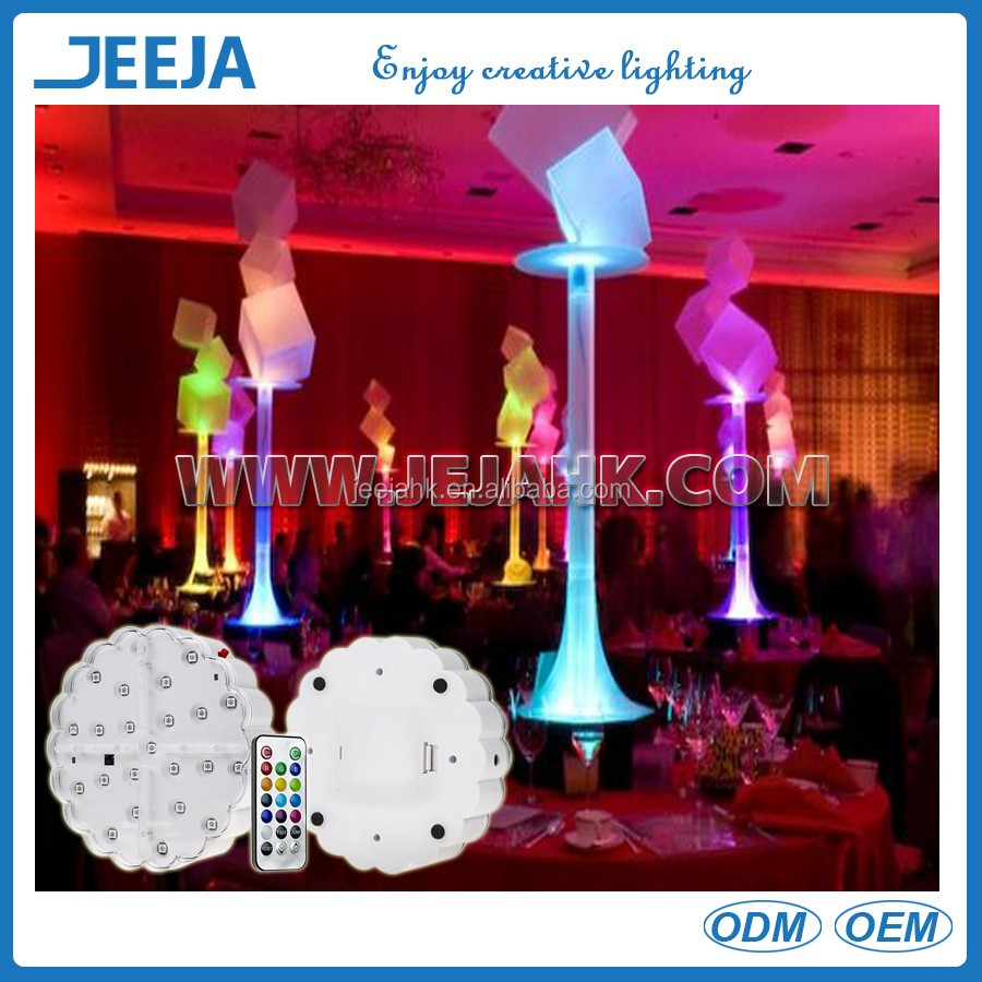 IR Remote Wireless Battery Operated Under Table Led Light for banquet Table Decoration