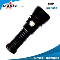 Jexree D89 Led Diving Flashlight,Led Rechargeable Flash Light,Led Emergency Scuba Diving Torch