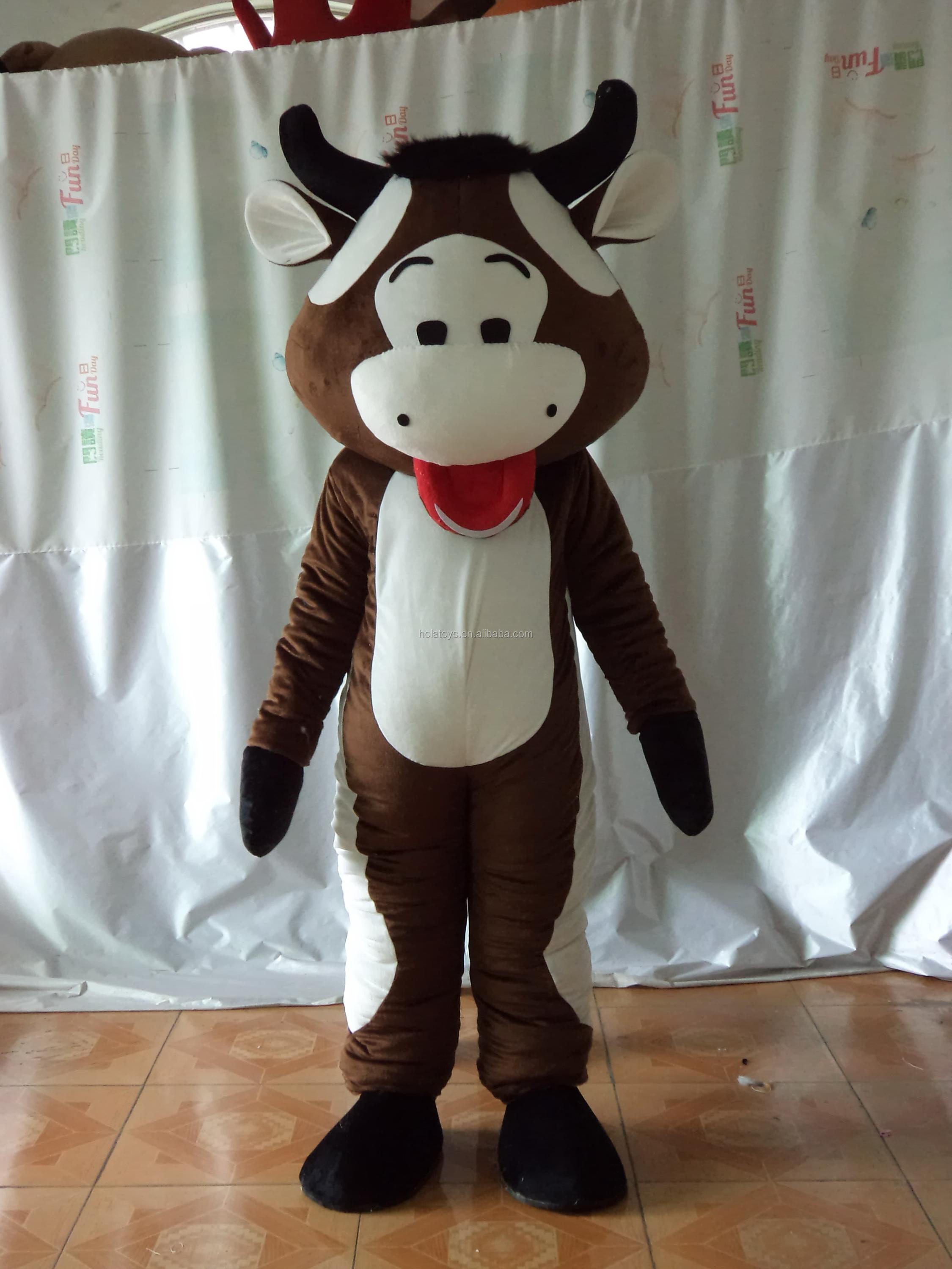 Hola buffalo costume/brown adult bull costume for sale