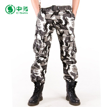 2017 Hot Selling Multi Pocket Long Pants White Black Mens Camo Tactical Cargo Pant