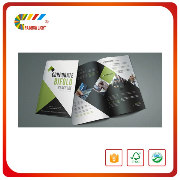 Reasonable price gold quality new style design advertising uncoated paper die cut clothing catalog