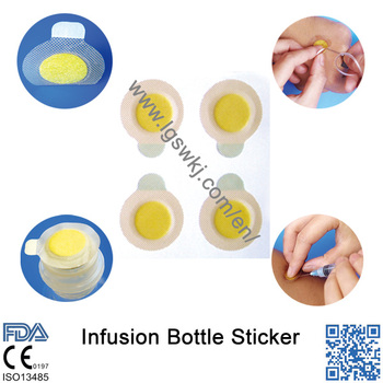 CE Approved Medical Disposable Sticker For Infusion Bottle