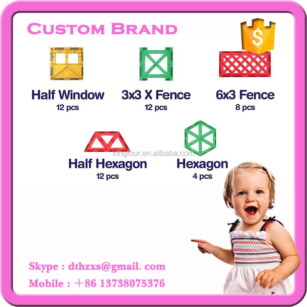 100pcs Hot selling OEM Baby toy magnetic toy block for building toy