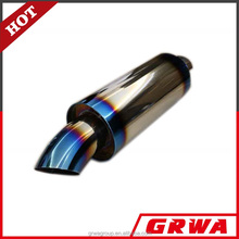 Performance Stainless Steel Exhaust Mufflers Silencer with Titanium Burnt Tip