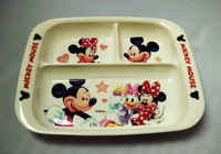 Mickey Mouse Design Porcelain Square Divided Plate