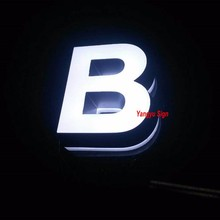 3D Acrylic indoor mini sign small aluminum led lighted letters