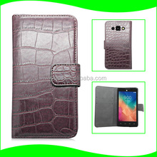 Factory Supplier Hot Selling Alligator Mobile Phone Holster Cellphone Flip PU Leather Protector Wallet Case for LG L60