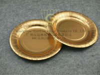 Golden Paper Plate Round Shape CP-001