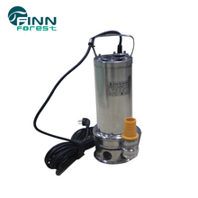 Electric stainless steel submersible small water fountain pump with led lights