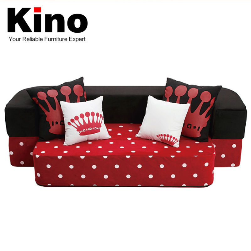 Modern Sofa Living Room Flannel Fabric European Style Foam Folding Mattress Sofa of Home furniture