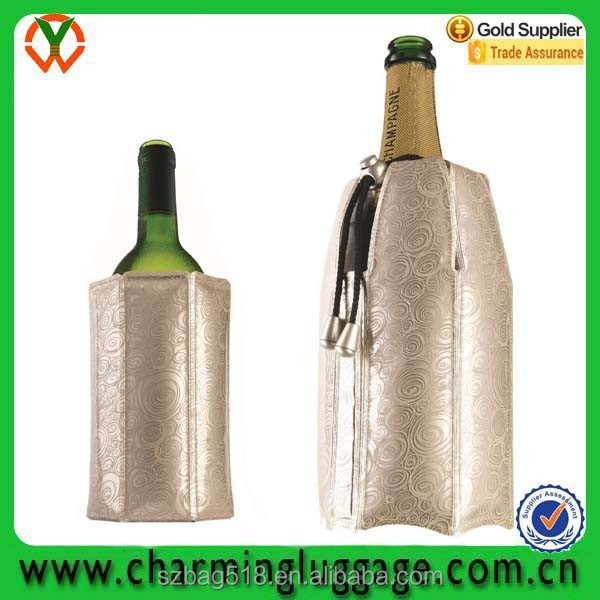 1.5L bottle plastic clear ice portable wine cooler bag for wine wholesale