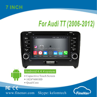 "Finenav 7"" HD 1024*600 2din Android4.4.4 car dvd player for Audi TT MK2 with gps navigation bluetooth radio"