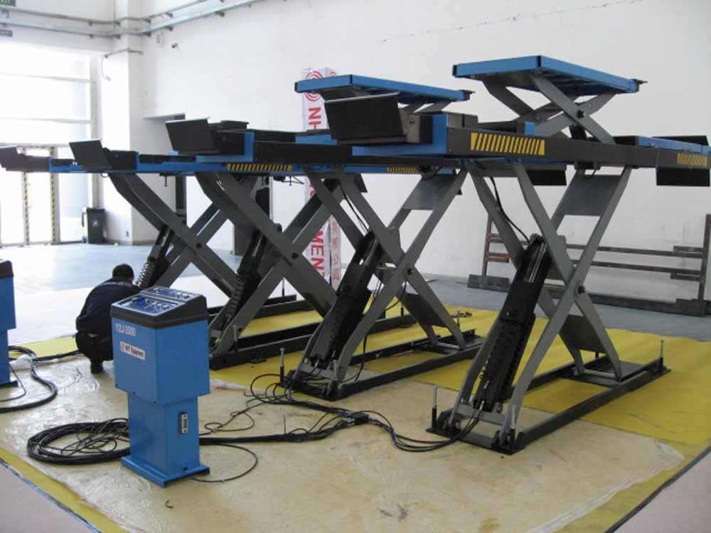 scissor car lift With ramps if installation on the ground