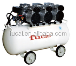 FUCAI brand F series Model FC750x3 1.0x3HP low noise quality assured oil free and silent air compressor.