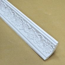 71mm 2.8 inch flower pattern PU polyurethane cornice molding for banquet hall ceiling decoration