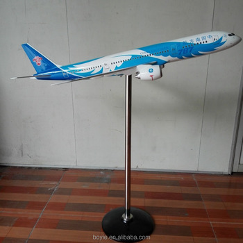 decorative 1:30 120CM Boeing 787 China Southern original feature scale models of planes with display base
