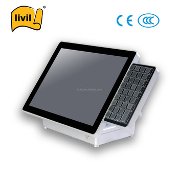 Non Touch Fashion Cheap Dual Screen Of POS Machine With Keyboard