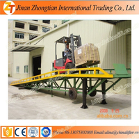 Factory price mobile hydraulic loading ramp truck used manual handle yard ramp