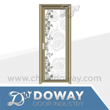 Inner aluminum glass door designs tempered shower door