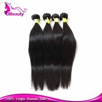 Wholesale Straight Grade 7a Virgin Hair, 100% natural silky straight wave Peruvian virgin remy human hair