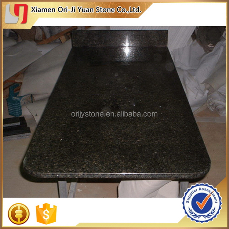 Top quality promotional emerald green granite countertops