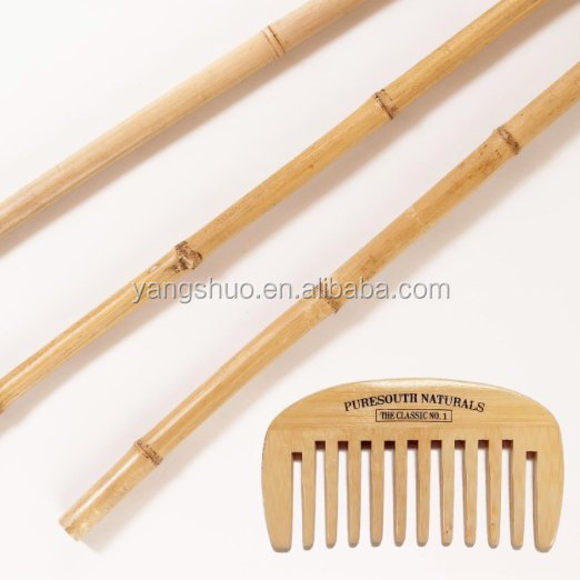 Bamboo beard comb wide tooth hair comb for mustache with handy storage Pouch