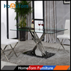 New Design Metal Glass Dining Table
