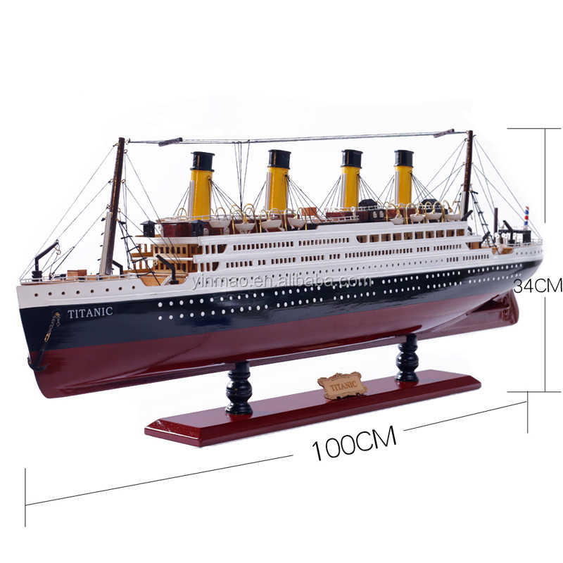 RMS Titanic ship model, size 100x11.5x34cm, <strong>wooden</strong> material