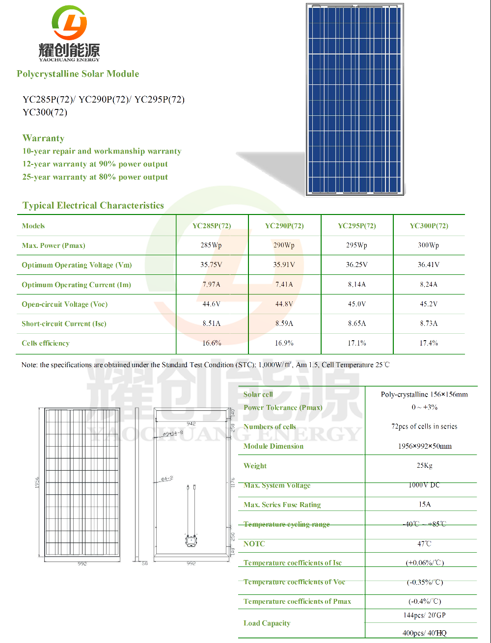 300 Watt 300W solar panel polycrystalline silicon & Monocrystalline silicon solar power system kits