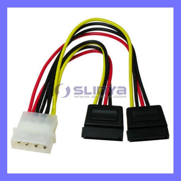 IDE to 2 Serial ATA SATA Power Cable Connector