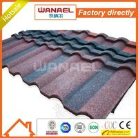 Wanael hail-resistance lightweight stone-coated metal roof tile/gazebo folding roof