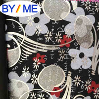 flower printed 600d polyester oxford fabric with pu backing