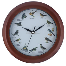 HOT SELLING MODERN QUARTZ PLASTIC WALL CLOCK WITH BIRD SOUND