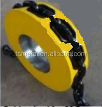 chain wheel with <strong>hole</strong> for stud link chain